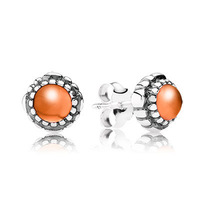 New Arrivals Brand Hot European Silver Jewelry for Earrings Birthstone-July, Carnelian Stud Earring 50pairs/lot