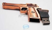 4gb 8gb 16gb 32gb metal bronze gun handgun pistol shape bullet USB 2.0 flash drive memory pen disk Drop ship dropshipping