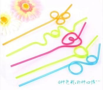 Multicolour 50 juice straw milk tea art straw drink straw plastic 5