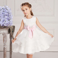 2013 Summer New style kids girl princess lace dress bow princess dress girl's Party dresses 5pcs/lot HW012 free shipping
