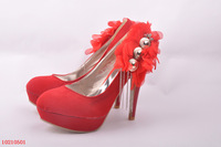 Lady's Appliques Bridal Shoes Pumps