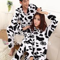 Free Shipping!!!Hotsale Cartoon Cute Pyjamas Set Lovers Household Sleepwear Coral Fleece Nightgown Women Men Homewear