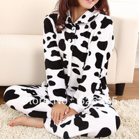 Free Shipping!!!Hotsale 2013 Spring Autumn Cute Pyjamas Set Household Sleepwear Coral Fleece Nightgown Women Homewear