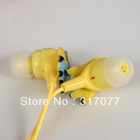 Cute Despicable Me Series Minions Lance Pattern Super Bass Stereo Ear Phones (Yellow with Light Blue)