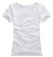 Free Shipping 2013 Short Sleeve O-neck Solid Tops Tees Woman Blank Shirt Basic Women's T-shirts