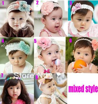 Infant Baby Toddler Flower   Headband Soft Headwear Hair Band 8 type for choosing
