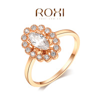 ROXI Brand fashion gold rings for women,Rose Gold Plated set with AAA zircon,fashion gold Jewelry,2010803425