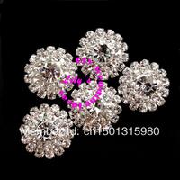 23mm rhinestone diamante embellishment/cluster, 130pcs/lot,DIY Wedding Supplies, small rhinesotne brooch for invitations