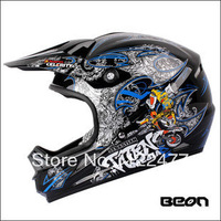 Free shipping!! BEON B14 Professional motocross off road helmet,motorcycle helmet,multi colors-Black/Blue Racing