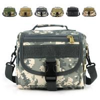 Molle outside sport messenger bag Military digital camouflage handbag shoulder bag for men and women 9121 Free shipping