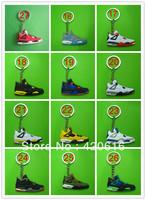 Free Shipping 20pcs/lot Air Jordan II AJ2+III AJ3+IV AJ4 Generation Men's Sneaker Shoes Silicon Rubber Ring Keychain