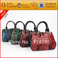 Women genuine leather handbags snake bags China wholesale handbags