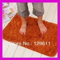free shipping Velvet mats solid color doormat mat waste-absorbing slip-resistant bathroom floor mat for kids