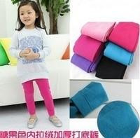 New 2015 Spring Autumn Winter Cotton With Velvet Kids Child Girls Children Pants Girl Leggings Baby clothes Free Shipping