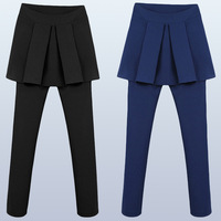 2013 autumn formal high waist female trousers pleated ruffle personalized fashion all-match sexy culottes
