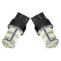 50pcs/lot T25 3157 Pure White 13 SMD 5050 Stop Tail Brake Turn  Car Light Bulb stop reverse Instrument signal External lamp