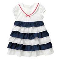 1 pieces retail new chiffon children girl summer casual cake dress