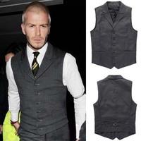 Free Shipping Beckham bakham vest spring and autumn men's business casual suit vest male w09-p45