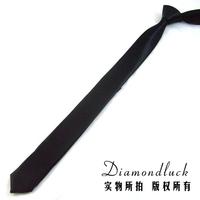 New 2014 Fashion Necktie Solid Black 3.5cm brand Classic Silk Men's Tie Necktie Free Shipping