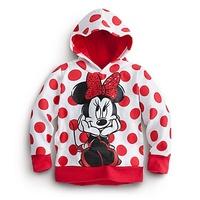 autumn/spring Child Boys Girl coat Hoodie Long Sleeve dot Hoodies Mickey Minnie mouse cartoon top kids t shirts, Sweatshirts