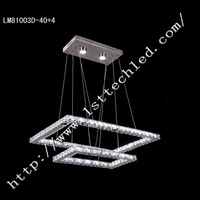 Double Deck Fashion Design LED Crystal Chandeliers with 60W Power