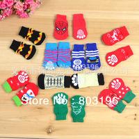 Free Shipping 5Sets/Lot Cute Cotton Pet Dog Socks 1Sets=4Pcs