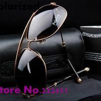 Designer Men's brand polarized sunglasses New fashion big frame polarizer glasses sunglasses 1005887 drivers with original box