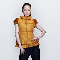 Women's down coat vest slim sweet thermal rex rabbit hair vest