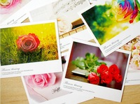 Free Shipping! 10Piece/SET(A-J)Flowers Series Of Post Card Set / Greeting Post Cards/ Gift Cards/Christmas Card/Postcard Gift