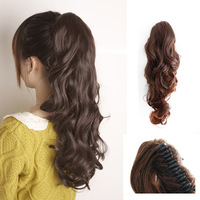 High quality curly ponytail claw clip ponytails can be scalding hot roll ponytail extensions free shipping