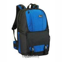 "Genuine Lowepro Fastpack 350 DSLR Camera Photo 17"" Laptop Bag Backpack Rucksack for Canon Nikon Waterproof + Weather Cover Blue"