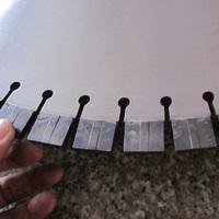 600mm segment diamond saw blade granite block cutting 20mm height segemnt