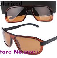 Promotions Men's brand designer Sunglasses Cool square P8465 polarizer men sunglasses Free shipping