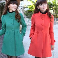 ON Sale promotion 2013 autumn and winter slim woolen outerwear wool woolen overcoat women's medium-long winter thick  cheap HOT
