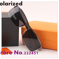 Promotions Men's brand designer Sunglasses fashionable professional driving polarizer H9006 drivers sunglasses with original box