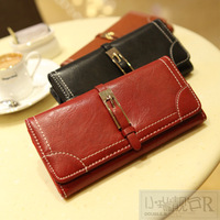 Fashion vintage long design wallet 2013 zipper women's wallet wallet