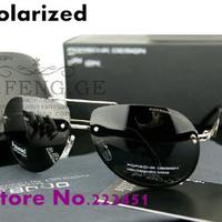 Promotions Men's brand designer Sunglasses oversized frame rimless polarized men sunglasses yurt 8501 Free shipping