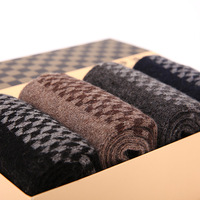 High Quality 4 Pair/Box Winter Extra-thick Thermal Wool Socks Male Thickening Stocking Men Thermal Cotton Sock YP0501-051
