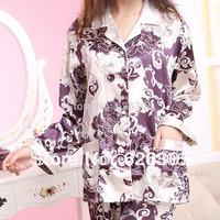Free Shipping!!!Hotsale 2013 Spring Autumn Cute Pyjamas Set  Household Print Sleepwear Casual Nightgown Women Home Wear