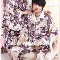 Free Shipping!!!Hotsale 2013 Spring Autumn Pyjamas Set  Household Print Sleepwear Casual Nightgown Women Men Home Wear