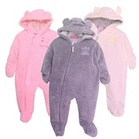 New orignal Baby brand thickened cotton padded cashmere rompers clothes,baby animal footwrapped Jumpsuit free shipping 4 pcs/lot