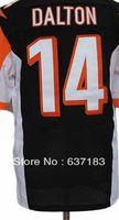 Wholesale 2013 Men New Cincinnati QB #14 Andy Dalton WR #18 A.J Green Black/Orange/White American Football Elite Sports Jersey