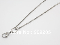2014 Fashion 80CM Stainless Steel Silver Rolo Chain For Floating Locket 10 Pieces/Lot L001