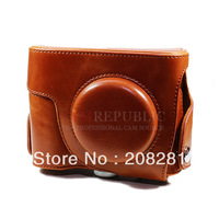 CamRepublic--  Leather camera case bag pouch for Coolpix P7800  (Antique Brown) ! Free Shipping