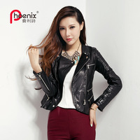 Genuine leather clothing female short design slim outerwear 2013 sheepskin clothes