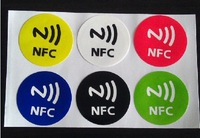 Free shipping(6 pcs)Universal Nfc Smart Tags Stickers Ntag203 for Samsung Note3 Galaxy S4 Lumia920 Nexus4/10 BlackBerry HTC Sony