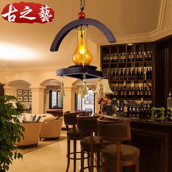 American style antique single head pendant light aisle lights personalized bar lights balcony lamps