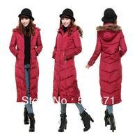 Long Down Jacket for Women Slim Thickening Outerwear Plus Size 3XL Women Long Parka Winter Down Jacket XXXL Zipper Coat With Fur