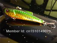 High brightness reflective Laser 5pcs/lot Fishing Hard Baits VIB Bass Trout Lures Sinking Vibration Lure free shipping