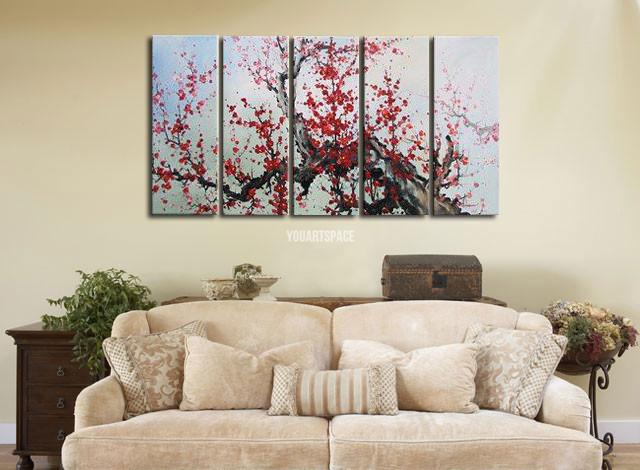 5 piece group wall art super large cheap abstract modern for Super cheap home decor